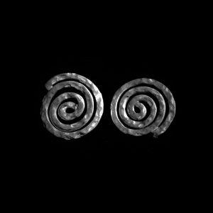 Aretes de plata espiral