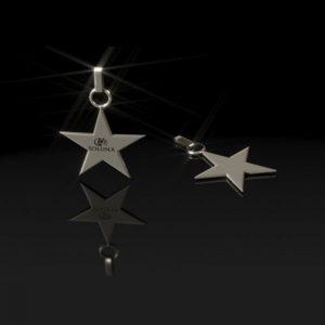 Dije de Plata Estrella Cinco Puntas