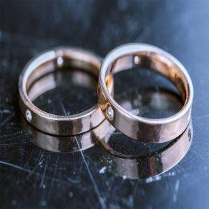 Anillos de Matrimonio Oro con Brillantes