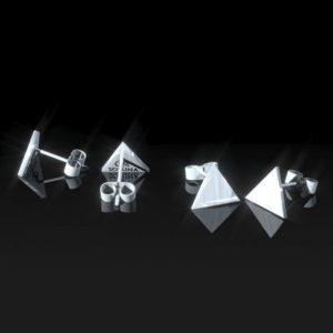 Topos de Plata calados triangulares pulidos