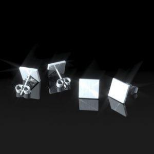 Topos Plata calados cuadrados