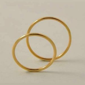 Aros sencillos de Matrimonio en Oro 18K